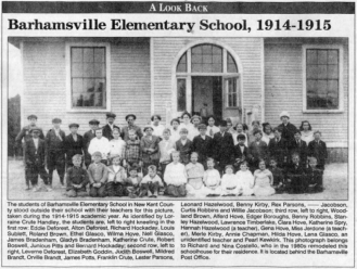 Barhamsville Elementary School article