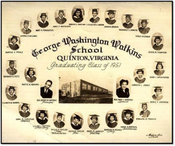First Graduating Class of George W. Watkins High School